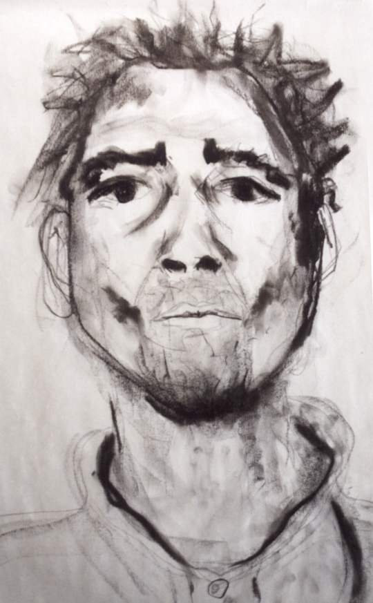 Charcoal drawing of Robert. Drawing by Emily Gerbig